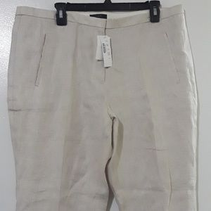 J. CREW Slim lined trousers Ivory size 16